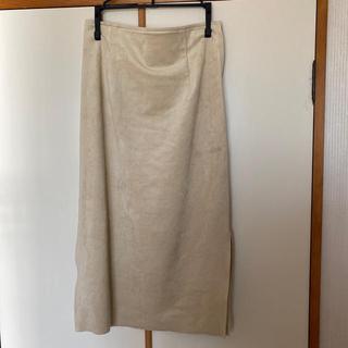 ノーブル(Noble)のノーブル フェイクスウェード スカート (ロングスカート)