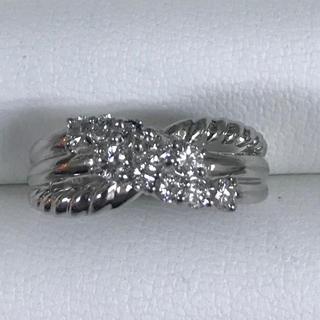 ★サイズ17号★プラチナPt900ダイヤモンド・デザインリング★0.50ct★(リング(指輪))