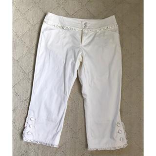 イプダ(epuda)のépuda 七分丈 パンツ ズボン 白 ホワイト S イプダ(ハーフパンツ)