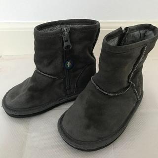 ファミリア(familiar)のファミリア ムートンブーツ 14cm  グレー(ブーツ)