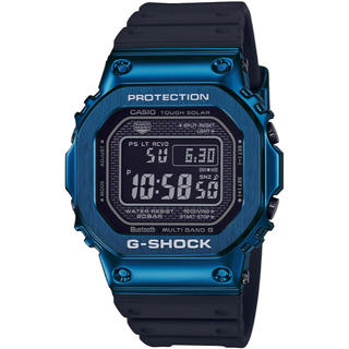 ジーショック(G-SHOCK)のカシオ G-SHOCK モバイルリンク 電波ソーラー 腕時計 ブラック×ブルー(腕時計(デジタル))
