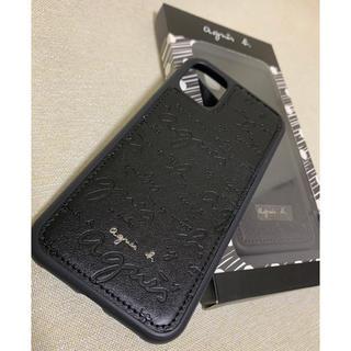 アニエスベー(agnes b.)のアニエスベー(agnes b) iPhoneケース 黒 ブラック(iPhoneケース)