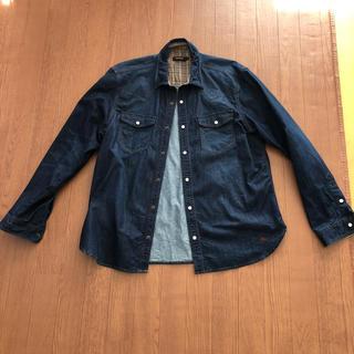 バーバリーブラックレーベル(BURBERRY BLACK LABEL)のバーバリーブラックレーベル サイズ4  デニムシャツ 美品(シャツ)