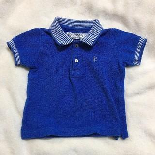 プチバトー(PETIT BATEAU)のプチバトー ポロシャツ 12m/74cm(Tシャツ)