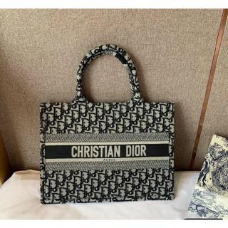 Christian Dior - クリスチャン ディオール ブックトートバッグ ブラック