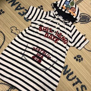 ラフ(rough)のrough☺︎ボーダーパーカーT(Tシャツ(半袖/袖なし))