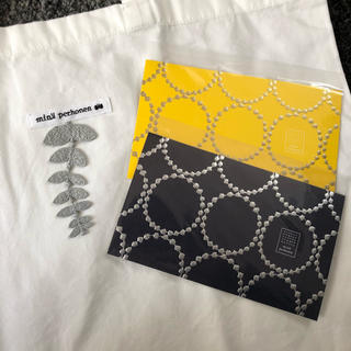 ミナペルホネン(mina perhonen)のミナペルホネン つづく展 ポストカード タンバリン エコバッグ バッグ 非売品(写真/ポストカード)