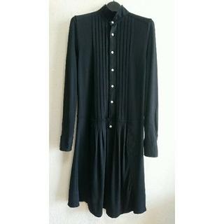ポロラルフローレン(POLO RALPH LAUREN)のPOLO RALPH LAUREN ニットシャツドレス 黒 XS(ひざ丈ワンピース)