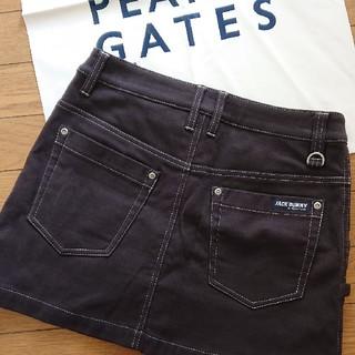 パーリーゲイツ(PEARLY GATES)のジャックバニーストレッチスウェードスカートサイズ1(ウエア)