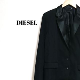 DIESEL - 美シルエット☆ 上質 ディーゼル ジャケット テーラード ブラック レディース