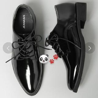ジーナシス(JEANASIS)のウォータープルーフマニッシュシューズ  ブラック(ローファー/革靴)