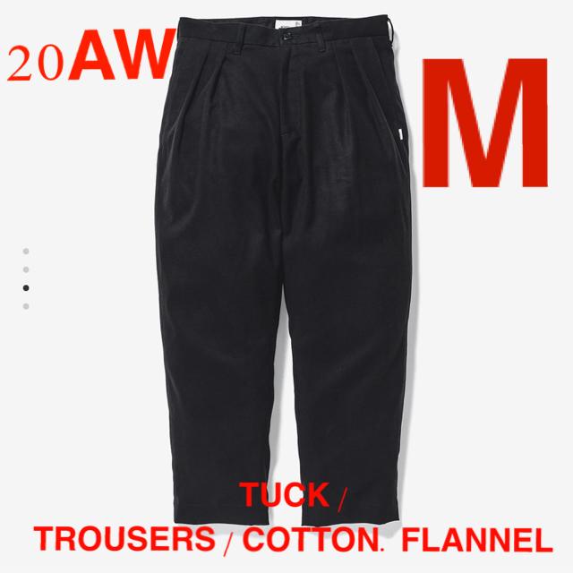W)taps(ダブルタップス)のTUCK / TROUSERS / COTTON. FLANNEL 黒 M メンズのパンツ(ワークパンツ/カーゴパンツ)の商品写真