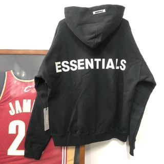 FEAR OF GOD - Essentials Pullover Hoodie M  パーカー  黒