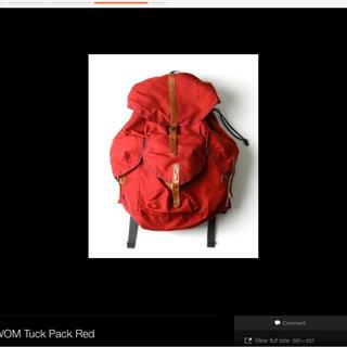 アーバンリサーチ(URBAN RESEARCH)のW.O.M  Tuck pack バックパック(バッグパック/リュック)