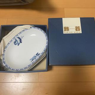 ユキコハナイ(Yukiko Hanai)の新品 未使用 ハナイユキコ 皿 大皿 鳥 ブルー 青(食器)