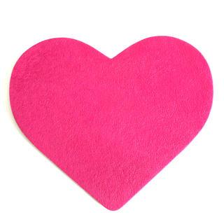 Francfranc - 【美品】フランフラン マウスパッド ピンク ハート かわいい おしゃれ シンプル