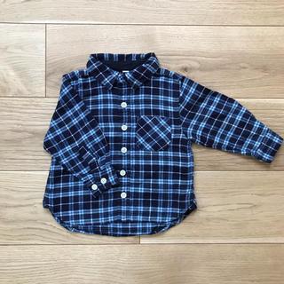 ムジルシリョウヒン(MUJI (無印良品))の無印良品 チェックシャツ 80サイズ(シャツ/カットソー)
