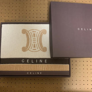 セリーヌ(celine)の新品 未使用 セリーヌ CELINE タオルケット シングル ベージュ ブラウン(布団)