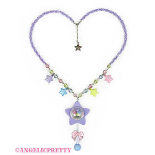 Angelic Pretty - Angelic Pretty Star Toy ネックレス ラベンダー