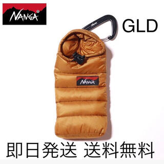 ナンガ(NANGA)の即日発送 送料込み  NANGAミニスリーピングバッグフォンケース GLD(iPhoneケース)