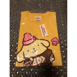 ニンテンドウ(任天堂)の新品 スプラトゥーン Splatoon2 サンリオコラボT ポムポムプリン L(Tシャツ/カットソー(半袖/袖なし))