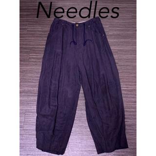 ニードルス(Needles)のNeedles ヒザデルパンツ ネイビー 美品(ワークパンツ/カーゴパンツ)