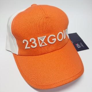 ニジュウサンク(23区)の【新品タグ付き】23区ゴルフ ゴルフ帽子/キャップ(ウエア)