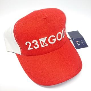 ニジュウサンク(23区)の【新品タグ付き】23区ゴルフ キャップ/帽子 赤(ウエア)