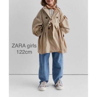 ザラキッズ(ZARA KIDS)の【新品・未使用】ZARA  girls パフスリーブ トレンチコート 122cm(コート)