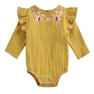 Caramel baby&child  - 【新品未使用】Louis misha ルイーズミーシャ 刺繍ロンパース