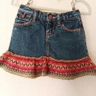 ベビーギャップ(babyGAP)のBABY GAP ギャップ ストレッチデニムフレアスカート サイズ100(スカート)