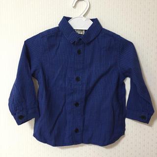 エフオーキッズ(F.O.KIDS)の【新品】子供ベビー 90cm チェック長袖シャツ F.O.KIDS(ブラウス)