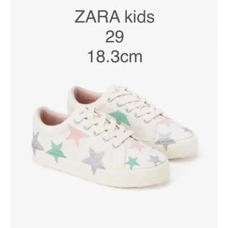 ザラキッズ(ZARA KIDS)の【新品・未使用】ZARA kids スター柄 スニーカー 18.3cm(スニーカー)