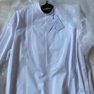 HYKE - 新品未使用 HYKE   ビブ フロントシャツ ホワイト