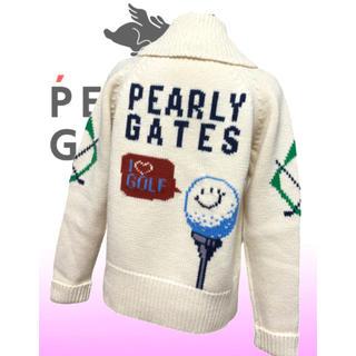 パーリーゲイツ(PEARLY GATES)の美品♡パーリーゲイツ  長袖  ニットブルゾン カウチンセーター  レディース(ウエア)
