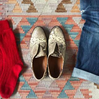 ジャーナルスタンダード(JOURNAL STANDARD)のパイソン フラットシューズ(ローファー/革靴)