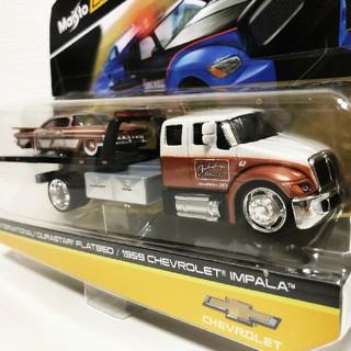 シボレー(Chevrolet)のマイスト/'59 Chevyシボレー Impalaインパラ&トラック 1/64(ミニカー)