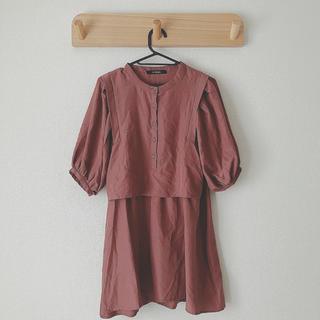 ダブルクローゼット(w closet)のバックリボンブラウス(シャツ/ブラウス(半袖/袖なし))
