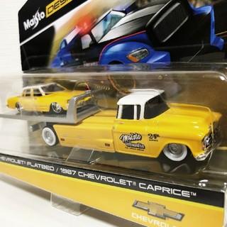 シボレー(Chevrolet)のマイスト/'87Chevyシボレー Capriceカプリス&トレーラー 1/64(ミニカー)