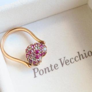 ポンテヴェキオ(PonteVecchio)の【ポンテヴェキオ】リバーシブルリング K18PG 7号 サファイア・ダイヤモンド(リング(指輪))