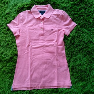 トミーヒルフィガー(TOMMY HILFIGER)のTOMMY HILFIGER☆ピンクポロシャツXS(ポロシャツ)