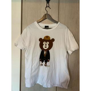 ビームス(BEAMS)のBEAMS ビームス Tシャツ クマ L 白 メンズ BEAMST 中古(Tシャツ/カットソー(半袖/袖なし))