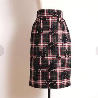 tocco - tocco スカート 秋冬用 ツイード 膝丈スカート トッコクローゼット