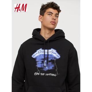 エイチアンドエム(H&M)の新品 安値 H&M × METALLICA コラボ パーカー L(パーカー)