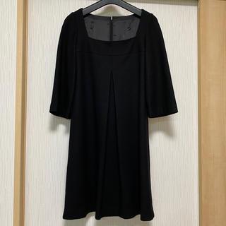 ANAYI - ANAYI  ウールワンピース 黒