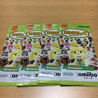 Nintendo Switch - 【新品未開封】どうぶつの森 amiibo カード 第1弾 4パック