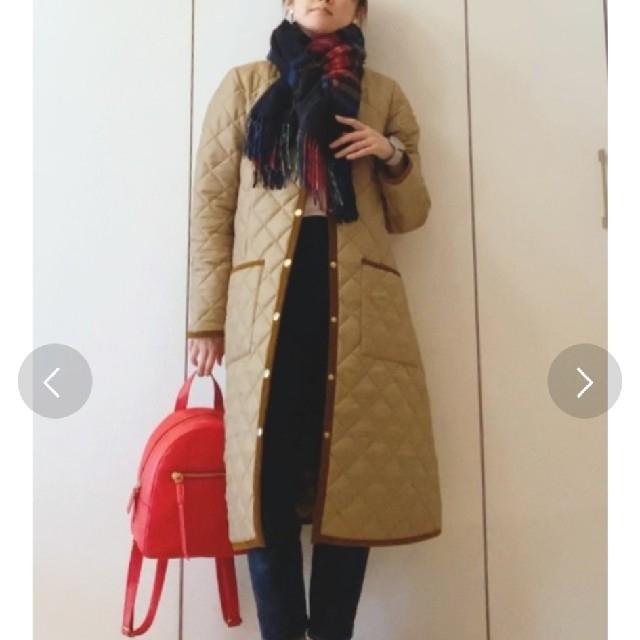 IENA(イエナ)のトラディショナルウェザーウェア キルティング コート ARKLEY LONG レディースのジャケット/アウター(ノーカラージャケット)の商品写真
