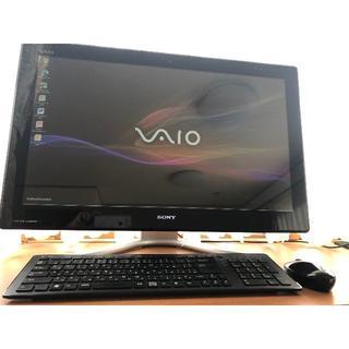 ソニー(SONY)のソニー VAIO VPCL225  美品、テレビ視聴パソコン (デスクトップ型PC)