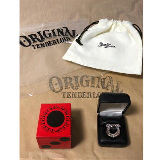 テンダーロイン(TENDERLOIN)の新品未使用 13号 テンダーロイン ホースシューリング ダイヤ入り 箱付き(リング(指輪))