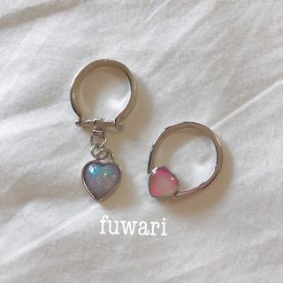 Katie - ♡ Glass heart aurora ring  #10
